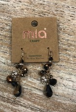 Jewelry Brown/Black Bead Dangle Earrings