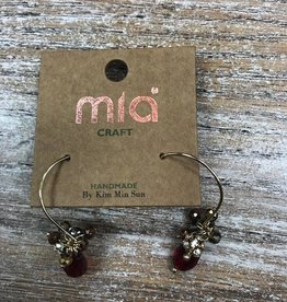 Jewelry Red Beads on Wire Earrings