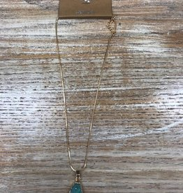 Jewelry Teal Druzy Necklace