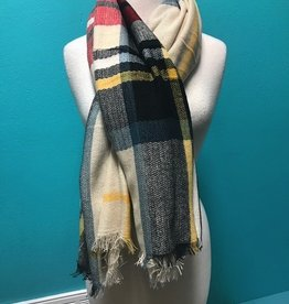 Scarf Plaid Square Scarf