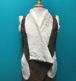Vest Fur Lined Vest w/ Fur Pockets