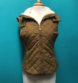 Vest Quilted Hood Vest Faux Lining
