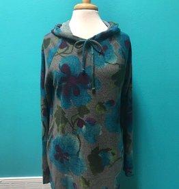 Hoodie Floral Cozy Knit Hoodie
