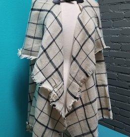Poncho Blanket Scarf Poncho w/ Toggle