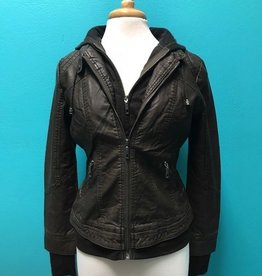 Jacket Double Zip Hooded Jacket