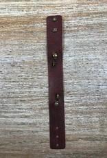 Jewelry Wine Thin Leather Cuff