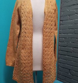 Cardigan Open Cardigan w/ Lace Up Back