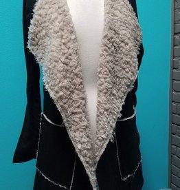 Cardigan Faux Fur Lined Cardigan w/ Pockets