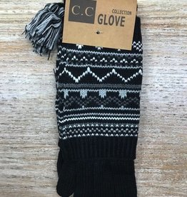 Gloves Tribal Print Two Piece Gloves