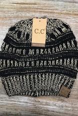 Beanie Metallic Knit Beanie