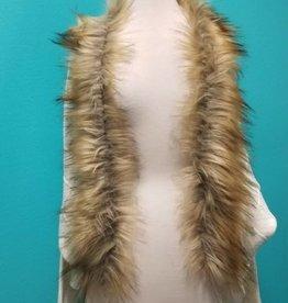 Cardigan Faux Fur Knit Cocoon