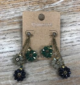 Jewelry Dangle Rhinestone Flower Earrings