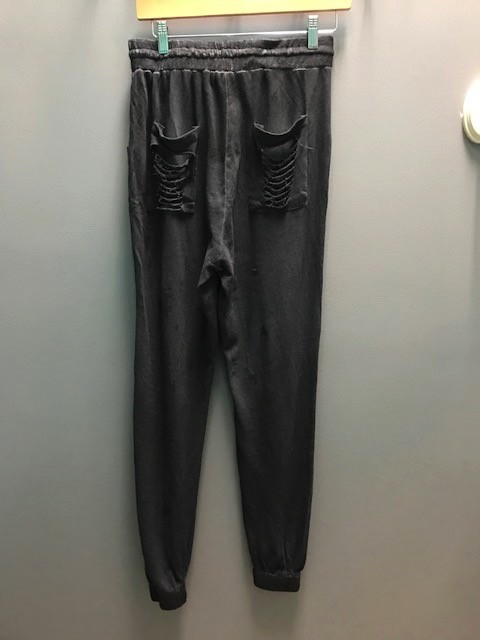 Pant Charcoal Ripped Sweatpants