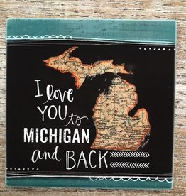 Kitchen Love You to MI Coaster