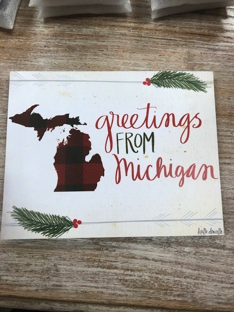 Decor greetings from michigan sign glitz spurs decor greetings from michigan sign m4hsunfo