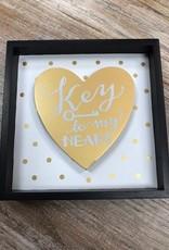 Decor Key To My Heart Shadow Box