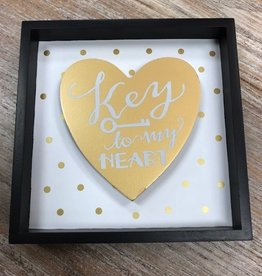 Decor Key To My Heart Shadow Box