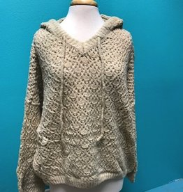 Sweater Knitted Diamond Shape Sweater Hoodie