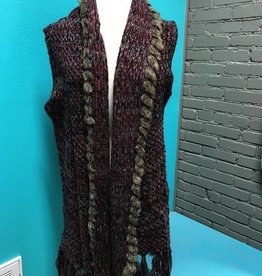 Vest Burg Knit Vest w/ Fur Hem