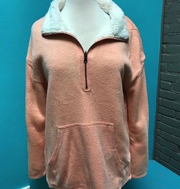 Top Peach Reversible Pullover