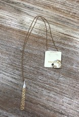 Jewelry Gold Hammered Bar Necklace