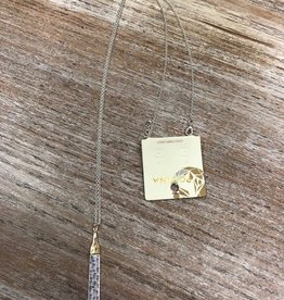 Jewelry Silver Hammered Bar Necklace