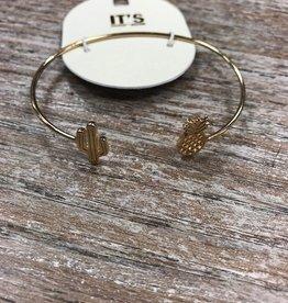 Jewelry Cactus/Pineapple Cuff Bracelet