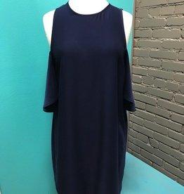 Dress Navy Cora Cold Shoulder Dress