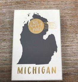 Decor Michigan Box Sign 6x4