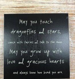 Decor Dragonflies & Stars Sign 7x7