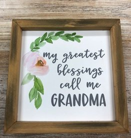 Decor Blessings Grandma Sign 7x7