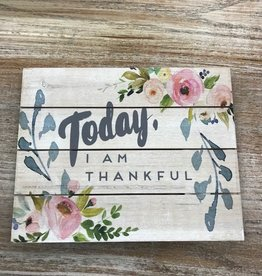 Decor I Am Thankful Pallet Sign 10x8