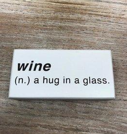 Decor Wine Noun Sign 6x3