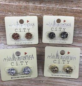 Jewelry Druzy Post Earrings