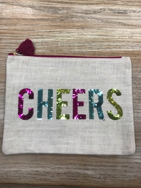 Bag Cheers Jute Sequin Bag