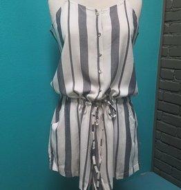 Dress Denver Romper White Striped