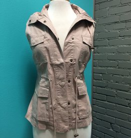 Vest Button Up Vest w/ Pockets