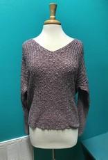 Sweater Knit Sweater w/ Twist Tied Back