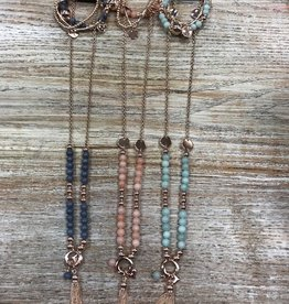 Jewelry Long Necklace w/ Bracelets