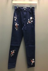 Jean Floral Embroidered Skinny Jean