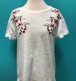 Shirt Floral Embroidered Tee