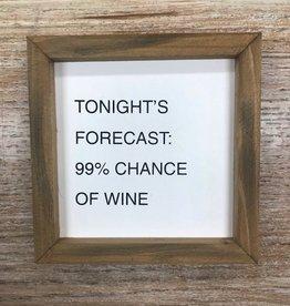 Decor Wine Forecast Letterboard Sign 6x6