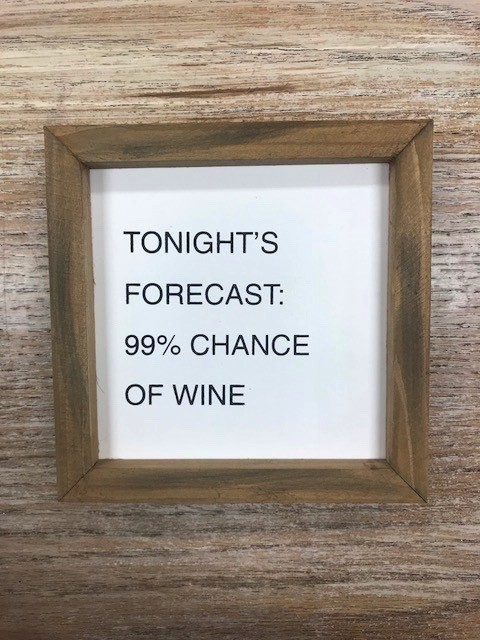 Decor Wine Forecast Letterboard Sign 6x6