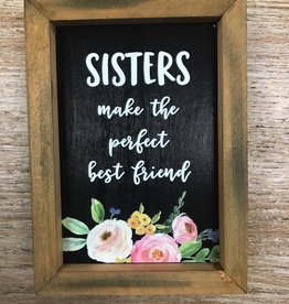 Decor Best Friend Framed Box Sign 5x7