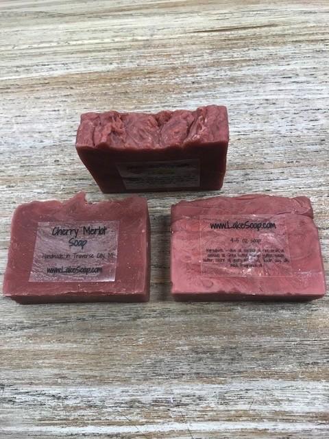 Beauty Lake Soap, Cherry Merlot