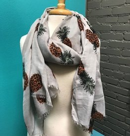 Scarf Gray Pineapple Scarf