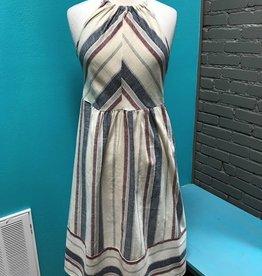 Dress Cream Stripe Linen Dress