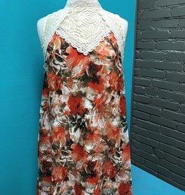 Dress Floral Mock Lace Dress