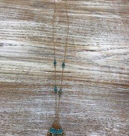 Jewelry Long Beaded Teardrop Necklace & Earrings