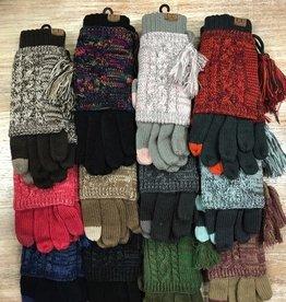 Gloves 2 Tone Layered Gloves